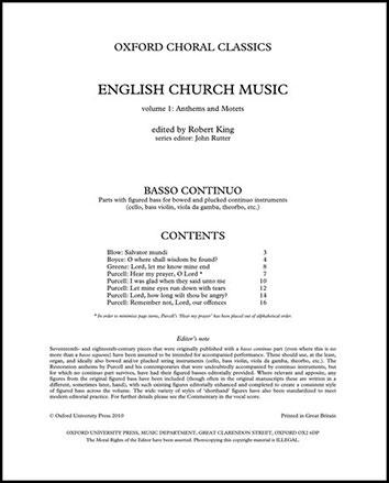 English Church Music, Vol. 1 Thumbnail