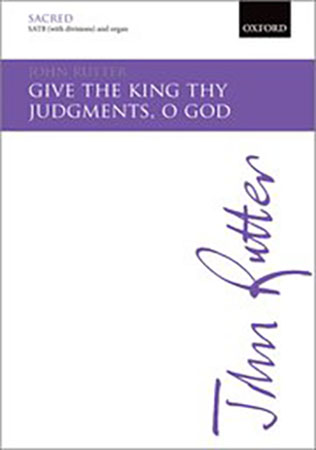 Give the King Thy Judgements, O God