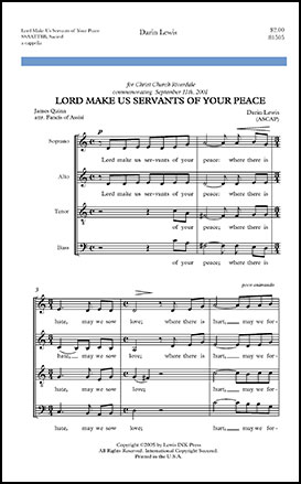 Lord Make Us Servants of Your Peace
