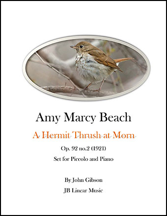 Amy Beach - Hermit Thrush set for Piccolo and Piano