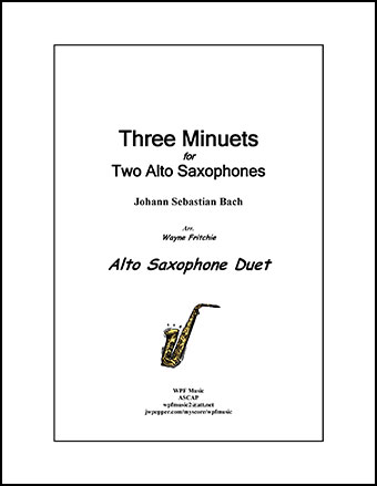 Three Minuets for Two Alto Saxophones