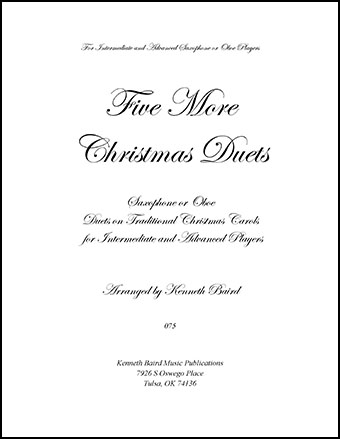 Five More Christmas Duets for Saxophones or Oboes