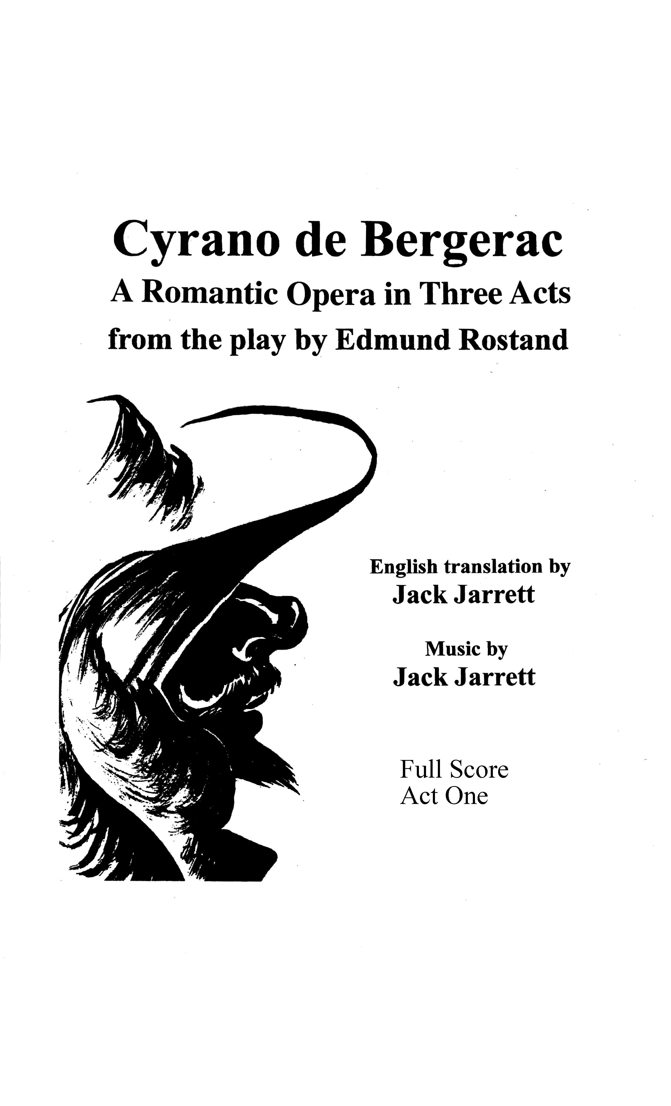 Cyrano de Bergerac Act One - Score and Parts