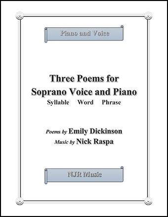 Three Poems for Soprano Voice & Piano Thumbnail