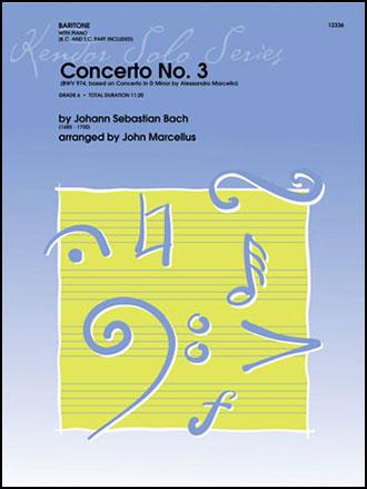 Concerto No. 3, BWV 974