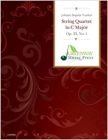 String Quartet in C Major, Op. 33 #1 library edition cover