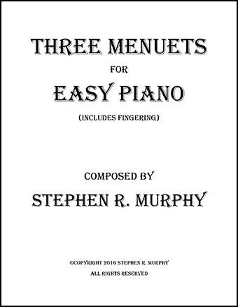 Three Short Menuets for Piano