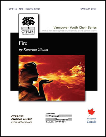 Fire (SATB ) by Katerina Gimon| J W  Pepper Sheet Music