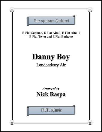 Danny Boy for Saxophone Quintet