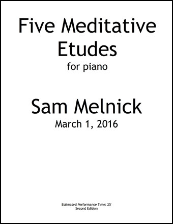 Five Meditative Etudes