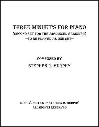 Three Short Minuet's for Piano (Second Set)