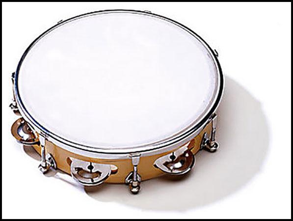 Tambourine 8 inch 6 pairs of Jingles