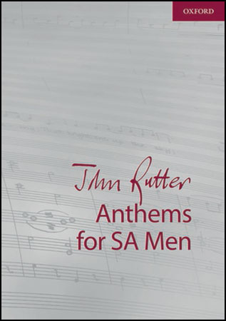John Rutter Anthems church choir sheet music cover