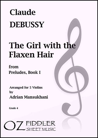 The Girl with the Flaxen Hair, for 5 Violins
