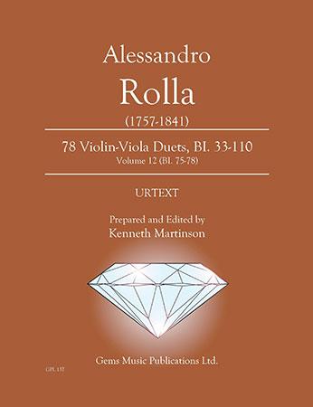 78 Violin Viola Duets, BI. 33 110 #12 (BI. 75 78)