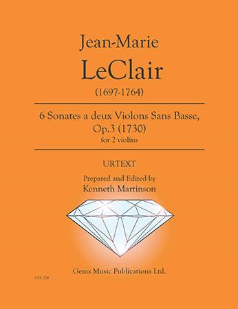 6 Sonates a 2 violons, Op. 3 #1 6