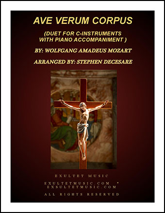 Ave Verum Corpus (Duet for C-Instruments - Piano Accompaniment)