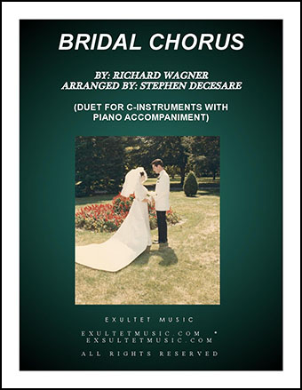 Bridal Chorus (Duet for C-Instruments - Piano Accompaniment)
