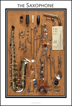 Saxophone  Anatomy Chart