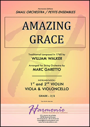 Amazing Grace - String Orchestra (or Quartet)