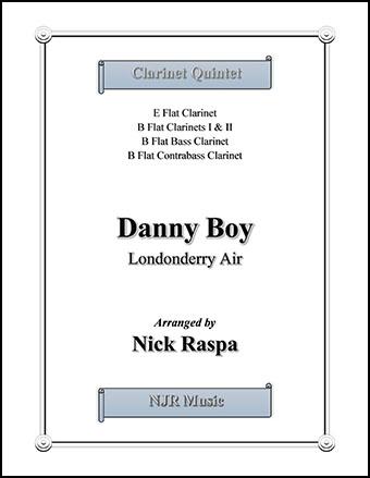 Danny Boy for Clarinet Choir (Eb, 2 Bb, Bass & CBass)