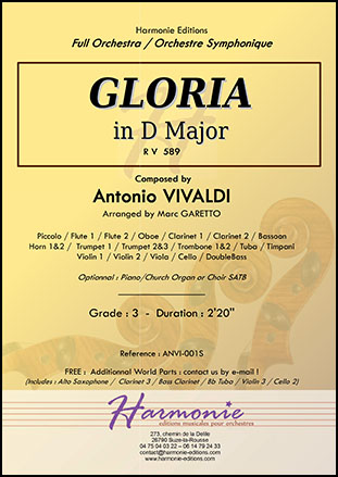 Gloria RV 589 in D Major