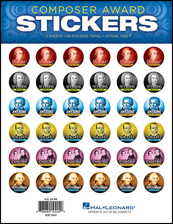 Composer Award Stickers
