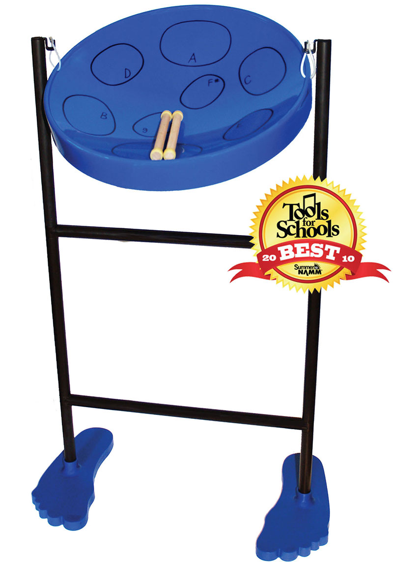 Jumbie Jam Steel Drum Pan with Plastic Fun Feet Stand