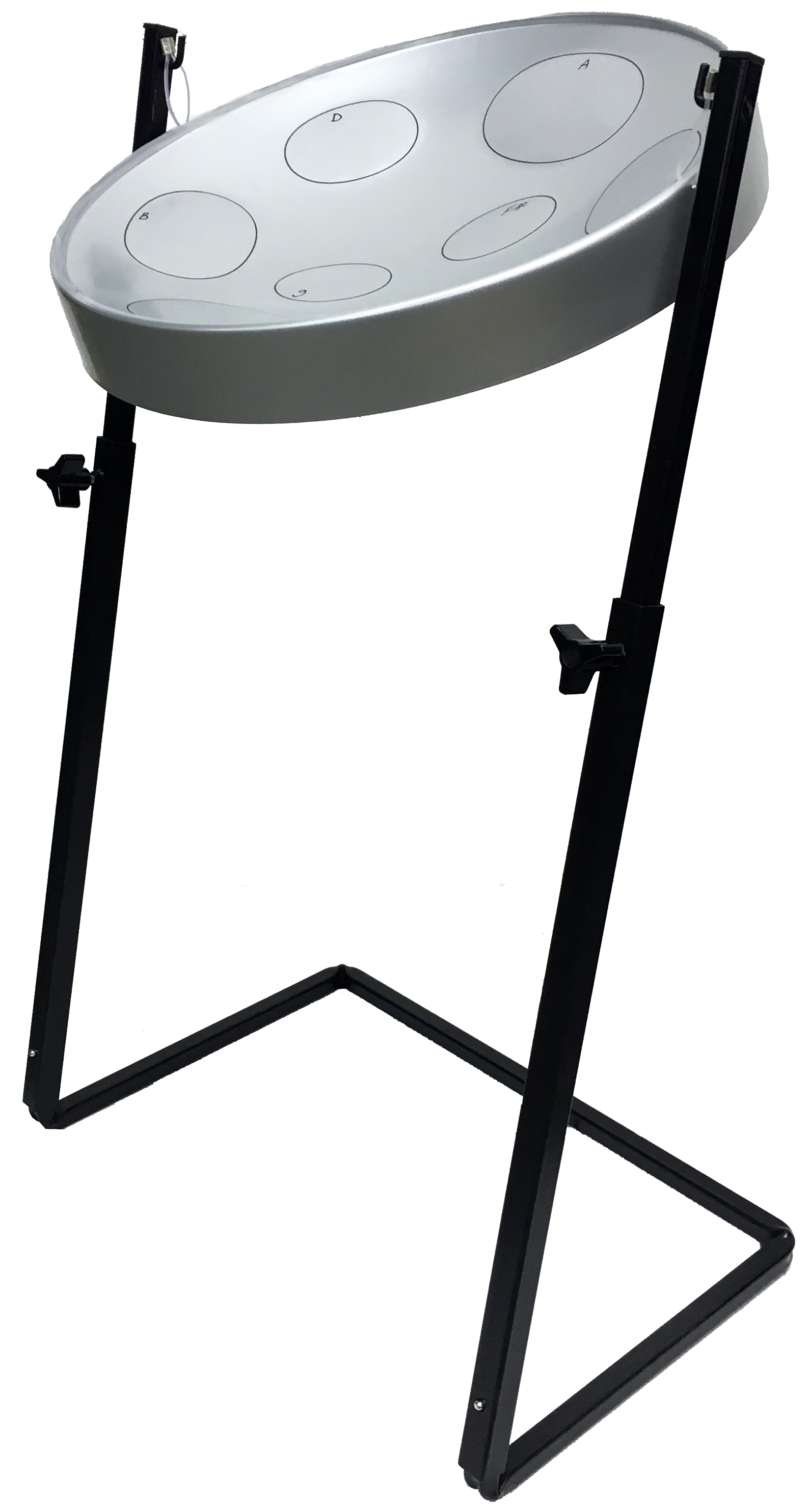 Jumbie Jam Steel Drum Pan with Metal Z-Stand