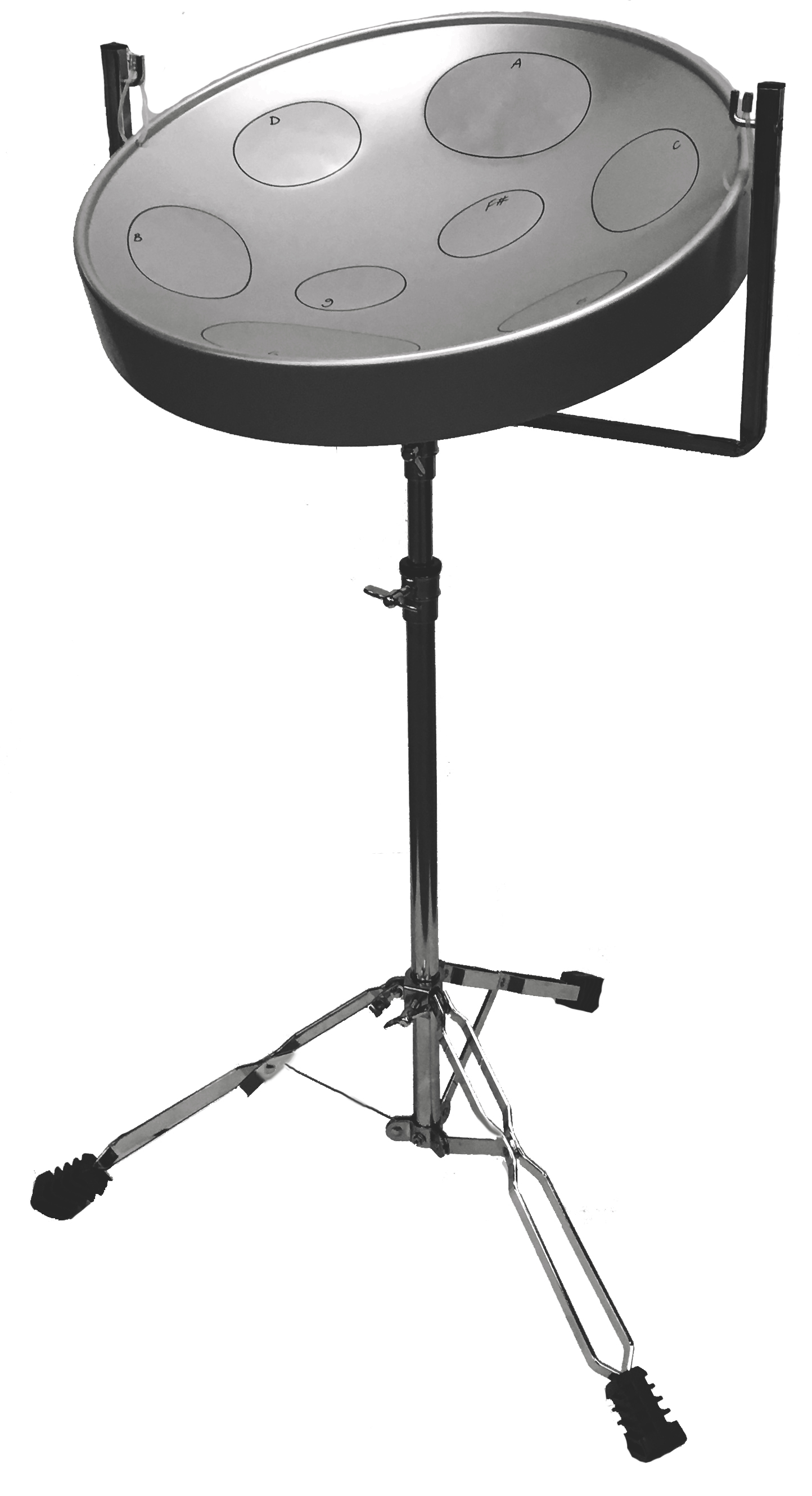 Jumbie Jam Steel Drum Pan with Metal Tripod Stand