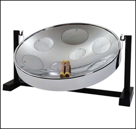 Jumbie Jam Steel Drum Pan with Tabletop Stand