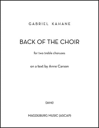 Back of the Choir (SSAA/SSAA Choral Score&nb | J W  Pepper