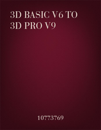 3D Basic to 3D Pro Upgrades