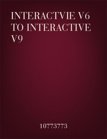3D Interactive to 3D Interactive Upgrades