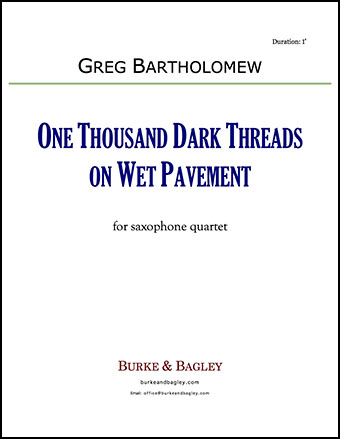 One Thousand Dark Threads on Wet Pavement