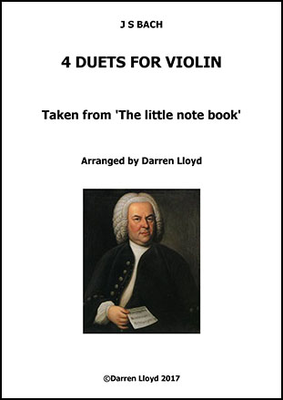 4 Bach Violin duets