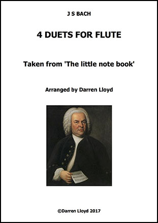 4 J S Bach duets for Flute