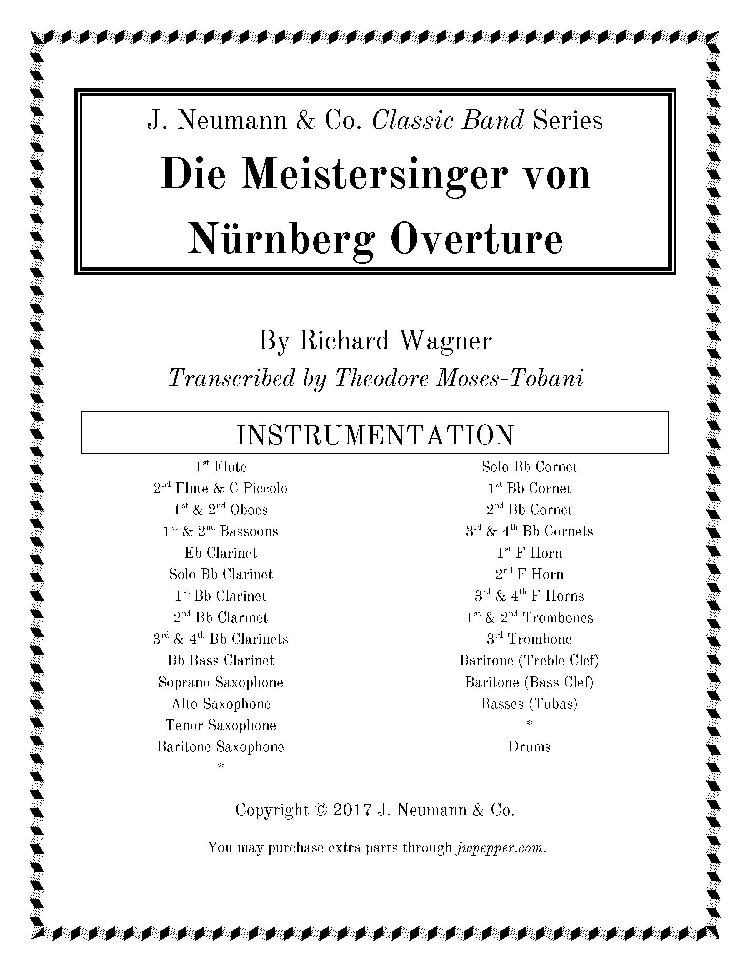 Die Meistersinger von Nurnberg Prelude (Overture)