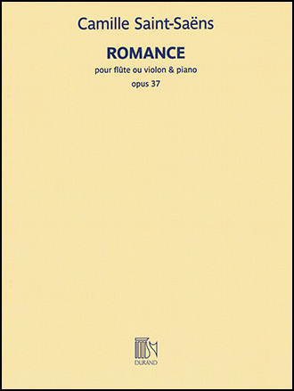 Romance, Op  37 (Flute, Violin Solo with Pia   J W  Pepper Sheet Music