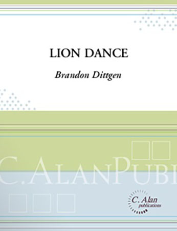 Lion Dance percussion sheet music cover