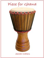 Piece for Ghana percussion sheet music cover