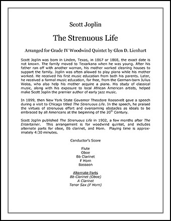 The Strenuous Life (Woodwinds)