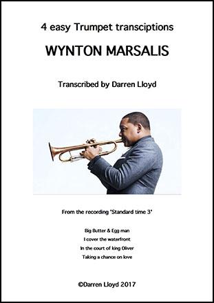 4 easy Wynton Marsalis Trumpet transcriptions