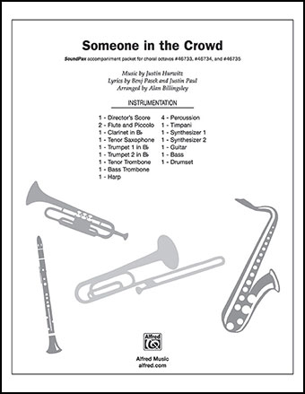 Someone In The Crowd Instrumental Parts B Jw Pepper Sheet Music