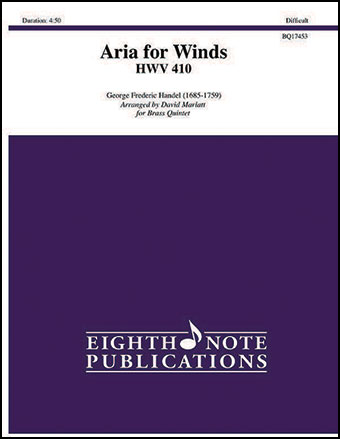 Aria for Winds, HWV 410