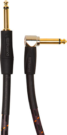 Roland Gold Series Instrument Cables, Angled Straight