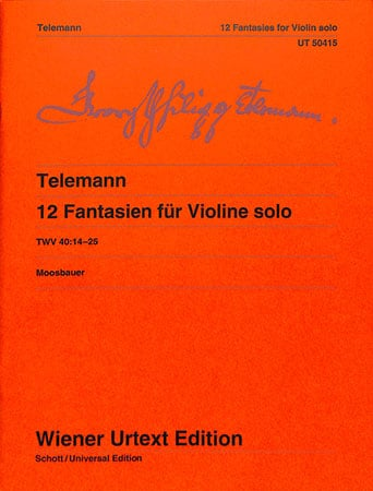 12 Fantasies for Violin Solo, TWV 40:14-25