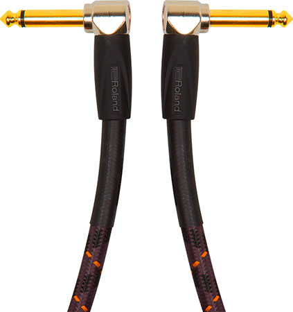 Roland Gold Series Instrument Cables, Angled Angled