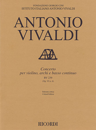Concerto for Violin, Strings and Basso Continuo, RV 239 (Op. 6, No. 6)