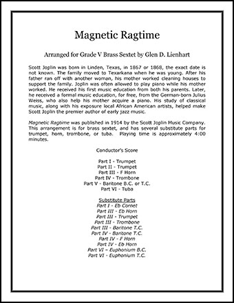Magnetic Ragtime (Brass)